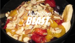NB#6 Ice-Cream and Banana with Almonds and Mixed Fruit